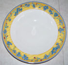 4 Yellow & Blue Soup/Cereal Bowls-Coq Du Village-Fitz and Floyd -Perfect