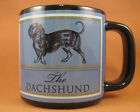 Russ Berrie Large Dachshund Coffee Mug 12 Fl Oz Black/Blue for Dog Lovers