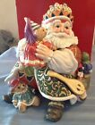 RETIRED Fitz & Floyd Christmas Court Santa Cookie Jar-Mint In Orig Box- ADORABLE