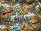 Jungle Animals Allover- Lions, Elephants, Giraffes, Cheetah, Zebras -Sold bty