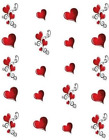 Valentine Hearts Waterslide Water Transfer Nail Decals Nail art