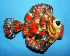 VTG LAVORATO A MANO TROPICAL 3D FISH STUDIO ART WALL HANGING POTTERY HAND MADE