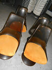 Set of Four Chromecraft Lucite Vintage Dining Chairs Mid Century Modern Knoll