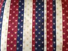 Patty Reed Primitive Heart of America Glittered Americana Fabric ~ by the YARD