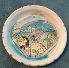 Susan Bolt Signed 7 Rimmed Ceramic Watercolor Dish House Gardens Sunflower Moon