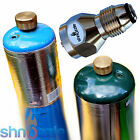 Refill 1 LB Propane Adapter + 2x BRASS CAPS small tank cylinder Lp Gas Heater