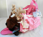 NEW! Webkinz Reindeer & Webkinz Pink Camo Pet Carrier - w/Tags