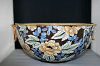 Rare antique ART DECO Boch  keramis Bowl  Raymond Chevalier flowers no catteau
