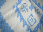 ANDREW MARTIN RAZZLE/ NATIVE/WESTERN/SOUTHWEST BLUE PRINT PATTERN FABRIC PIECE