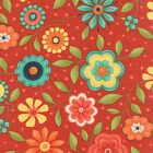 Red Block Party Fabric - Moda - Sandy Gervais - 75812 15 - By the Yard
