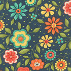 Navy Block Party Fabric - Moda - Sandy Gervais - 75812 13 - By the Yard