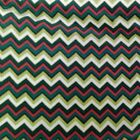 Greens/Red & White Chevron Polar Fleece Fabric - SOLD BY THE YARD