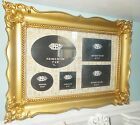 ART DECO NOVEAU GOLD BAROQUE FRAME FRENCH COLLAGE LARGE PICTURE PHOTO GLASS