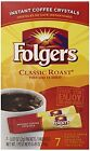 Folgers Instant Coffee Crystals Classic Roast Single Serve Packets, 0.07 Ounce P
