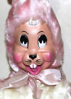 Columbia Toy Products vintage rubber face pink cartoon bunny