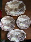4 Pc Johnson Brothers Olde English Countryside Serving Bowl Plate Relish Candy