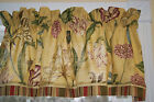 Waverly Somerset Botanical Gold Green Red Toile Valance 17