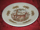 THE VICTORIAN ENGLISH POTTERY WOODLAND LARGE DEER SERVING BOWL NEW