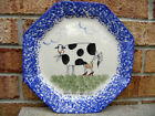 RARE Molly Dallas Plate-Dressed Cow,Red High Heels-