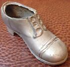 Unique Rare Pewter Men's Shoe Decorative Piece Small Primitive Metalware Decor