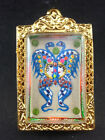 King of Butterfly With 9 Tailed Fox Lady By Kruba Krissana Thai Buddha Amulet#1