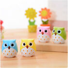 2014 Creative stationery Cute Owl pencil sharpener rolling pen knife eraser