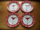 222 Fifth Christmas appetizer plates(4)....