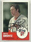 Bryce Brentz Signed Autographed Card 2012 Topps Heritage Minor league