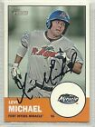 Levi Michael signed Autographed Card 2012 Topps Heritage Minor Leagues