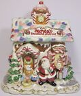 Fitz and Floyd FF Ceramic Christmas Candy Lane Express Santa Claus Cookie Jar