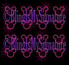 Iron On Rhinestone Transfer Bling - Hot Pink Tiny Minnie Mickey Heads - Pick Qty