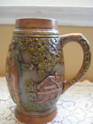 BEAUTIFUL OLD VINTAGE HAND PAINTED POTTERY BEER STEIN
