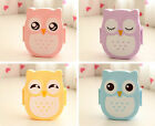 Hot Portable Lunch Box Plastic Cute Cartoon Owl Lunch Box Food Contain Bento Box