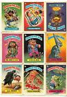 Set of 14 Garbage Pail Kids Sticker Pictures Card Loose Ex Mint - Near Mint