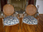 Pair of Fauteuil Chairs French Carved Caned Backs absolutely Gorgeous!