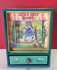 Little Grey Rabbit Dancing Animated Jewelry Music Box Sankyo Tempest Easter