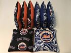 NEW YORK METS CORNHOLE BEAN BAGS SET OF 8 TOP QUALITY TOSS GAME