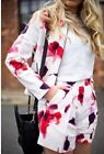 ZARA WATERCOLOR FLORAL pleated flower pants trousers short S Olivia Palermo 2014