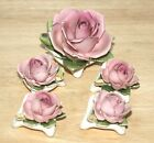 Antique Victorian Kandarbeit  Germany five piece porcelain pink rose centerpiece