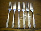 6 Tudor Plate 1946 Queen Bess Dinner Forks Oneida Community Silverplate Flatware