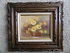Original Robert Cox Oil Paintings Signed Flowers Original Frame Floral Medium