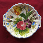 MAJOLICA Floral, DECORATIVE CHINA / POTTERY PLATE from ITALY  11.5