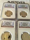 2015 S NGC PF69 PRESIDENTIAL 1 4 coin PROOF Set EARLY RELEASES PF 69 UCAM ER