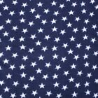 White Stars On Navy Polar Fleece Fabric BY THE YARD
