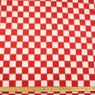 Red And White Checker Polar Fleece Fabric BY THE YARD