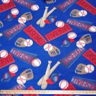Baseball Polar Fleece Fabric BY THE YARD