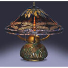 Tiffany Style Dragonfly Stained Glass Table Lamp Vintage Desk Antique Lamp NEW