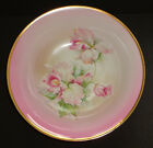 ANTIQUE PORCELAIN BOWL ALTWASSER PINK GOLD FLOWERS ORCHID GERMAN SILESIA c 1925