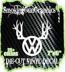 Volkswagon With Deer Antlers Vinyl Decal Sticker Car Diesel Vw Bug Buck Truck