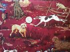 Robert Kaufman Pointer Setter Pheasant Hunting Dog Cotton Quilt Fabric